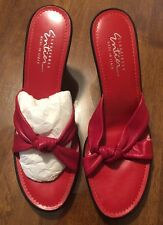 Classiques Entier Red Wedge Slip On Size 9 New