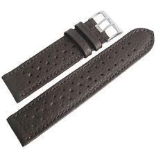21mm Fluco Brown Racing Rallye Rally Tropic German Made Leather Watch Band Strap