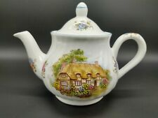 Teapot - Arthur Wood & Sons Staffordshire England  Cottage Floral Flowers