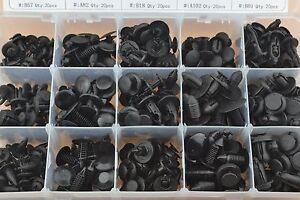 300pcs Clips Rivet Trim Panel Retainer Interior Fastener Body Screws Push Type