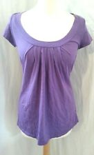 M&S MARKS AND SPENCER 100% Cotton Purple Smock Tunic Summer Top 8