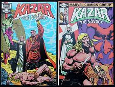 Ka-Zar 11 & 12 lot of 2 vfn 1982 Marvel Comics RED panel Variant 1st BELASCO