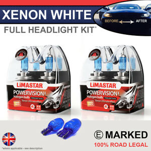 Corsa E 14-on Xenon White Upgrade Kit Headlight Dipped High Side Bulbs 6000k