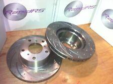 Disc Brake Rotors to suit Toyota Landcruiser FZJ105 HZJ105 Slotted  Front Pair