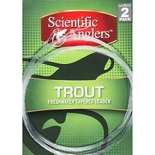 SALE! 2 PACK SCIENTIFIC ANGLER TROUT 7.5' 5X 4.8 LB TAPERED LEADERS RETAIL $7.95
