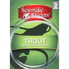 SALE! 2 PACK SCIENTIFIC ANGLERS TROUT 9' 5X 4.8 LB TAPERED LEADER RETAIL $7.95