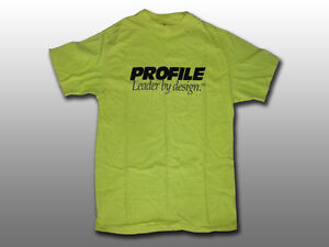 New, BMX, Profile Bikes Large, T-Shirt, Yellow