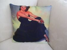Vintage  Photo Print of Beautiful Film Star Polyester Cushion Cover  FREEPOST