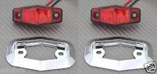 2 x LED arrière rouge cadre chromé 12V FEUX DE POSITION bus camion camping-car