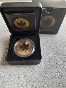Silver coin 2016 Maple Leaf Ruthenium Gold Shadows silver 5$ 1oz