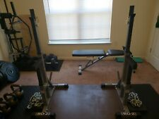 BB-2 Valor Fitness Independent Weightlifting Stand/ Bench Press (Can Squat) Used