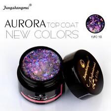 Top Coat Nail Gel Aurora Colors Gel Polish Glitter Clear Shiny Manicure Us 5ml