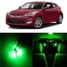 10 x Green Interior LED Lights Package For 2012 - 2017 Hyundai Veloster + TOOL