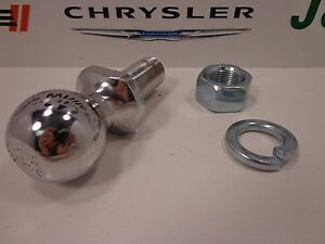 "00-20 Chrysler Dodge Jeep New Chrome Mopar Hitch Ball 1 7/8"" 2000lbs Factory Oem"
