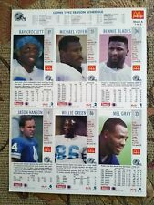 1993 McDonalds Limited Edition Nfl GameDay Collector Cards Set of 4 Uncut Sheets