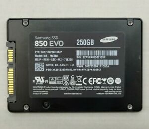 "250GB SAMSUNG 850 EVO 2.5"" SATA Solid State Drive"