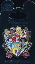 Storybook Princess Shield Ariel Jasmine Aurora Belle Rapunzel Tiana Disney Pin