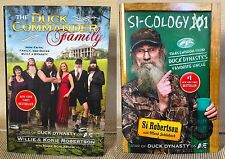 NEW Duck Dynasty 2 Book Set Hard Cover Dust Jackets Si-Cology Duck Commnd Family