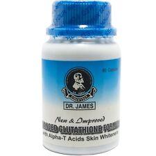 Authentic Dr. James Glutathione Skin Whitening Bleaching Pills - 60 Capsules