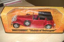 Matchbox Yesteryear Y4 1930 Model J Duesenberg in Red with Black Hood