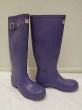 Hunter Original tall Purple Rain Boots Women's SZ 6 US 37