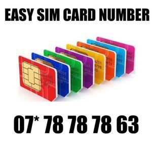 GOLD EASY VIP MEMORABLE MOBILE PHONE NUMBER DIAMOND PLATINUM SIMCARD 787878 63