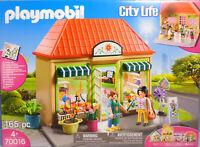 Playmobil 70016 Blumenladen Shop Geschäft Haus Blumen Regal Kassse Sticker NEU