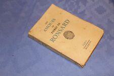 LES AMOURS de PIERRE DE RONSARD-Petite bibliothèque poétique ex sur vélin n° 941