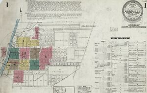 Abbeville, Louisiana Sanborn Map© sheets on a CD~28 maps in color~ PDF format