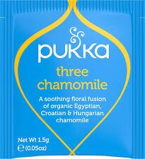 Pukka Tea 20 Sachets Organic Herbal Teabags - Three Chamomile