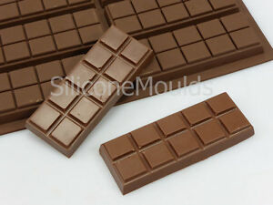 6 cell 10 Chunk Sections Chocolate Bar Candy Snap Professional Silicone Mould