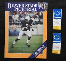 1987 PENN STATE LIONS vs CINCINNATTI FOOTBALL PROGRAM BLAIR THOMAS + 2 TICKETS