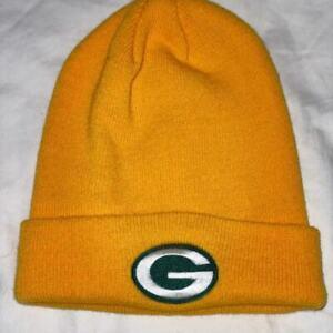 NFL Beanie Green Bay Packers, Yellow Cuffed NWT