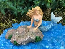 Miniature Dollhouse FAIRY GARDEN Figurine ~ Tidal Pool Mermaid OCEAN ~ NEW