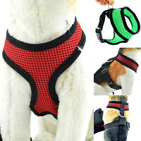 BG_ Pet Cat Puppy Dog Harness Soft Mesh Vest Walk Collar Safety Leash Strap Delu