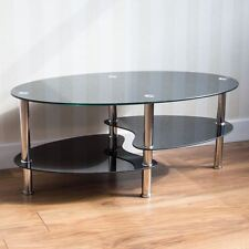 Cara Black Glass Chrome Coffee Table New Metal Modern By Home Discount