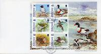 Alderney 2011 FDC Bailiwick Birds Shelduck Woodcock Grebe 6v M/S Cover Stamps