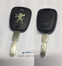 Peugeot 2 Button Remote Key Case NE78 Fob Button Replacement 406 607