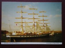 POSTCARD CORNWALL FALMOUTH - RUSSIAN TALL SHIP - SUNNY DAY