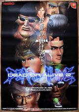 Dead OR ALIVE 2 RARA DREAMCAST 51.5 CM x 73 cm giapponese PROMO POSTER #1