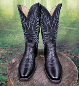 Men's Cowboy Western Boots Exotic Paul Bond Handmade Shark Skin 9 D