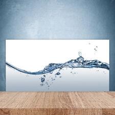 Küchenrückwand aus Glas 100x50cm ESG Spritzschutz Wasser Kunst