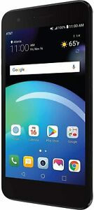 LG Phoenix 4 AT&T Prepaid Android Smartphone 16GB, 4G LTE - Black - Brand New