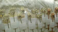Joblot 12pcs Faux pearl and diamante Ladies metal hair pin NEW wholesale lot 3
