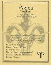 Aries (Zodiac) The Ram, Parchment Page Book of Shadows, Altar!