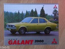 Mitsubishi Colt Galant 2000 GL Saloon / SL Hardtop Prospekt / Brochure, NL,12.74