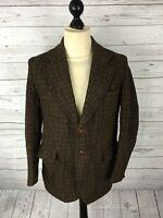 HARRIS TWEED Jacket/Blazer - 40R - Brown - Wool - Great Condition