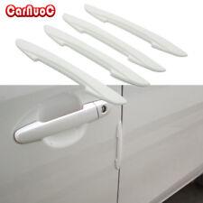 4x Carbon Fiber White Car Door Side Edge Protector Sticker Car Door Bumper Strip