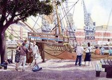 Matthew alongside the Arnolfini, Bristol - Ltd Ed Signed Print by Art Whitlock