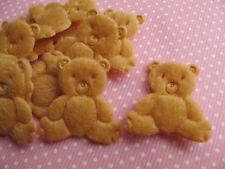 60 Padded Furry Felt Teddy Bears Appliques/Trims-Tan